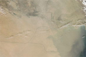 Dust Storm over the Middle East