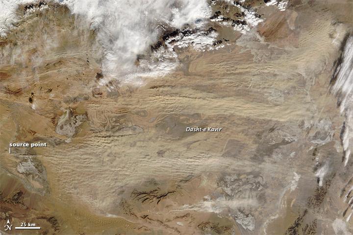 Dust Storm in Iran