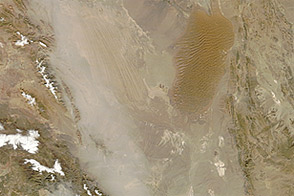 Dust Storm over Iran and Pakistan