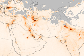 Pollution across Southwestern Asia