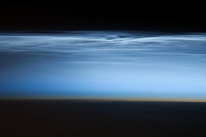 Polar Mesospheric Clouds, South Pacific Ocean