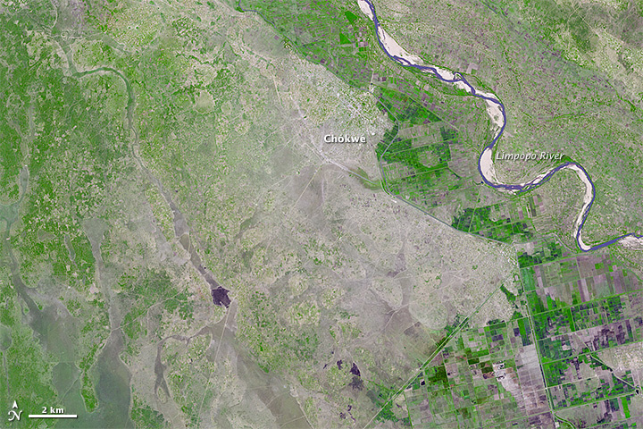 Close-up of Flooding in Mozambique
