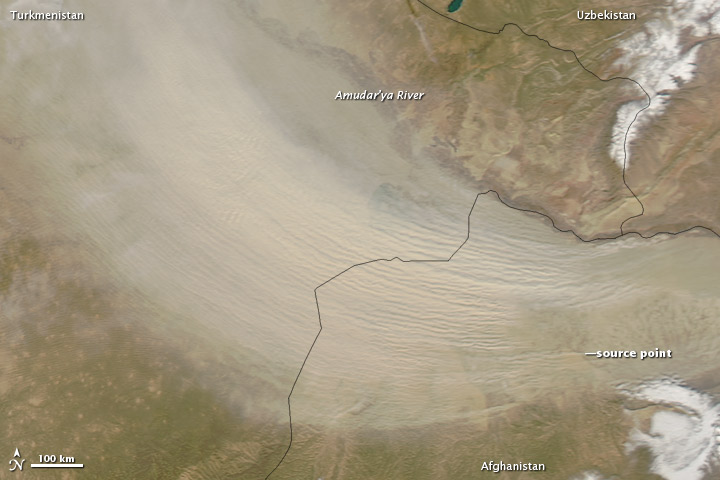 Dust Storm in Afghanistan and Turkmenistan
