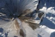Ash and Debris on Kizimen Volcano