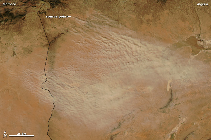 Dust Storm in the Atlas Mountains
