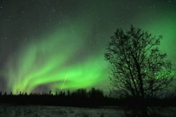 Rocketing Into the Northern Lights