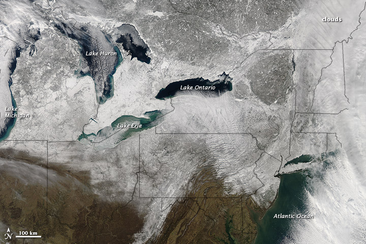 Snow across the Northeastern United States