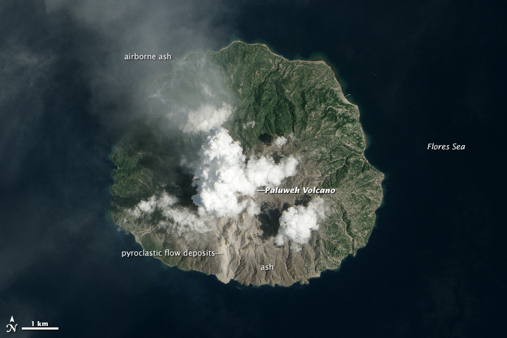 Explosive Eruption at Paluweh Volcano