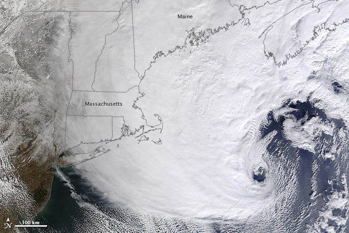 Storm over Eastern New England