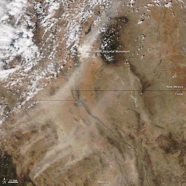 Dust Storm in Mexico and New Mexico