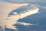 Northeastern USA Coastline in Sunglint