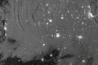 Nighttime View of Snow across the United States