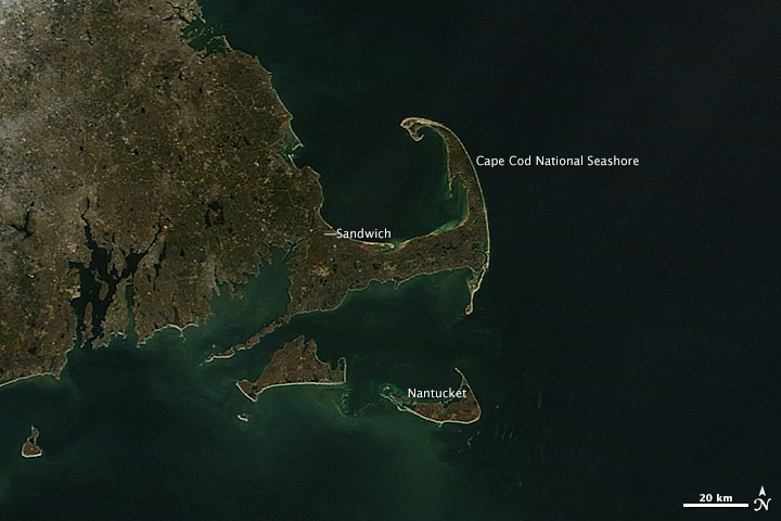 Swirling Sediment Reveals Erosive Power of New England Storm