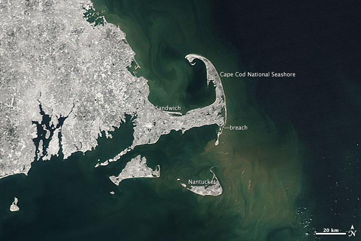Swirling Sediment Reveals Erosive Power of New England Storm