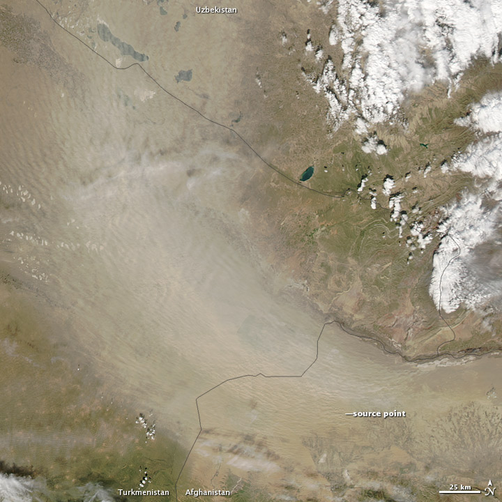 Dust Storm in Turkmenistan