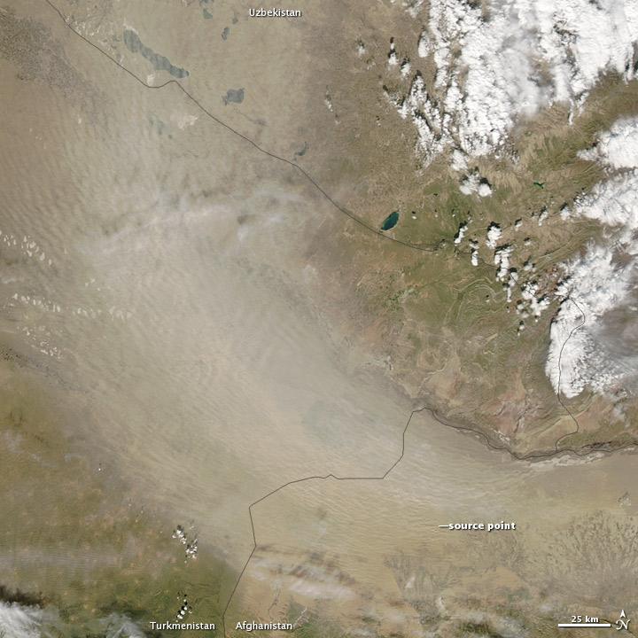 Dust Storm in Turkmenistan