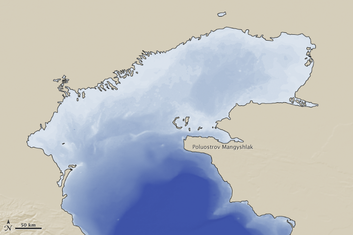 Ice on the Caspian Sea Caspian Sea Map on