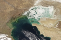 Ice on the Caspian Sea