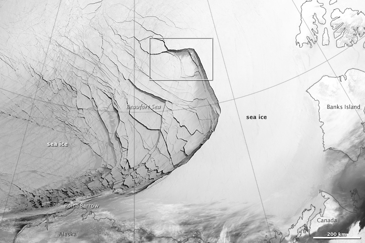 Extensive Ice Fractures in the Beaufort Sea