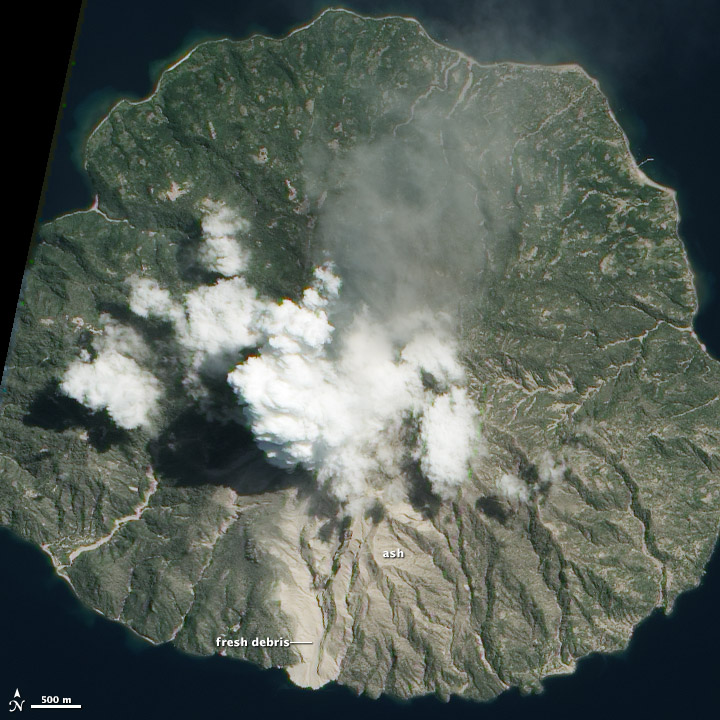 Gas and Ash Plume from Paluweh Volcano