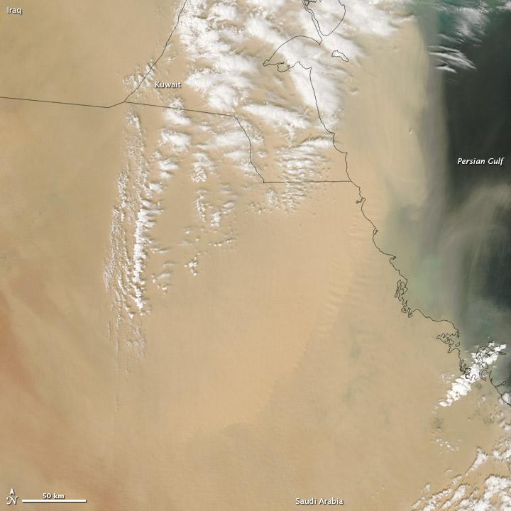 Dust Storm on the Arabian Peninsula