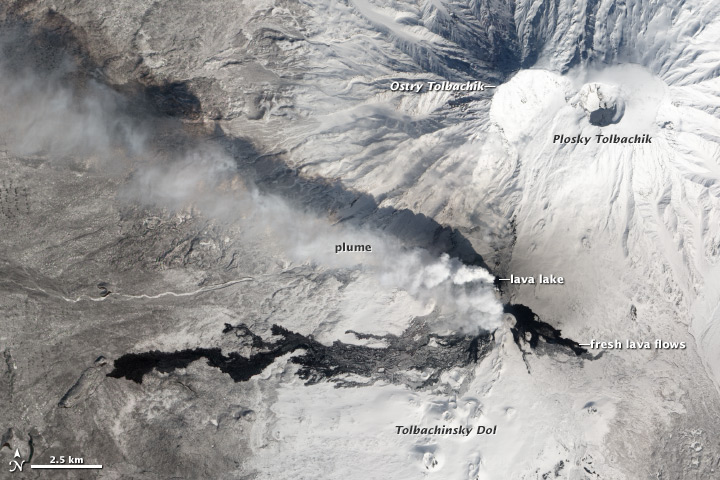 NASA Visible Earth: Activity at Tolbachik Volcano