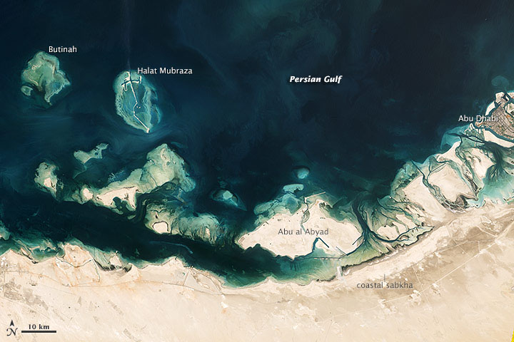 Mangroves, Domes, and Flats on the UAE Coast