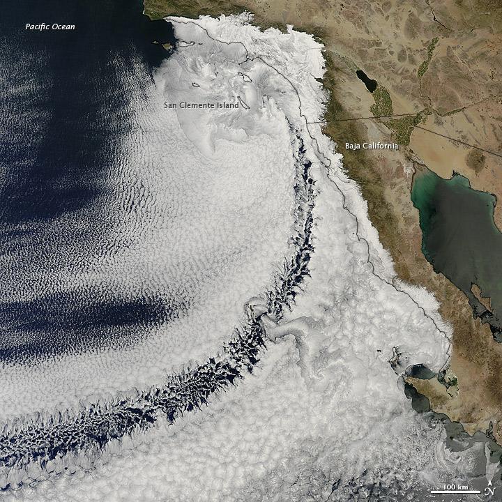 Clouds off the California Coast