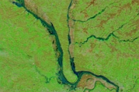 Flood Waters along the Mississippi and Illinois Rivers