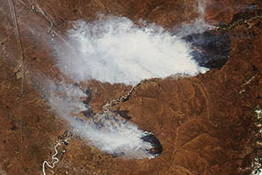 Burning Fields in Eastern Russia