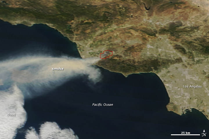 Springs Fire, California : Image of the Day