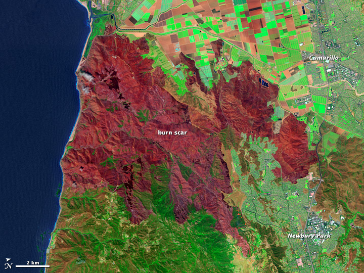 Mapping the Severity of Springs Fire from Space Image of the Day