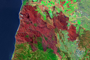 Mapping the Severity of Springs Fire from Space - selected image