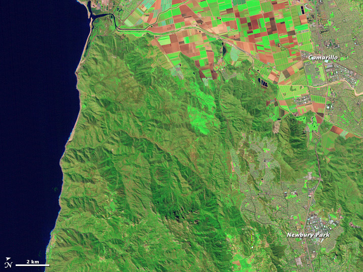 Mapping the Severity of Springs Fire from Space