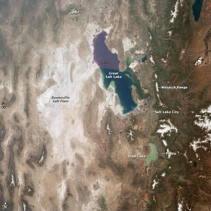 View of the Great Salt Lake from Skylab  - related image preview