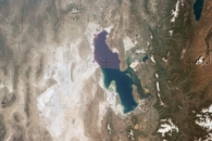 View of the Great Salt Lake from Skylab