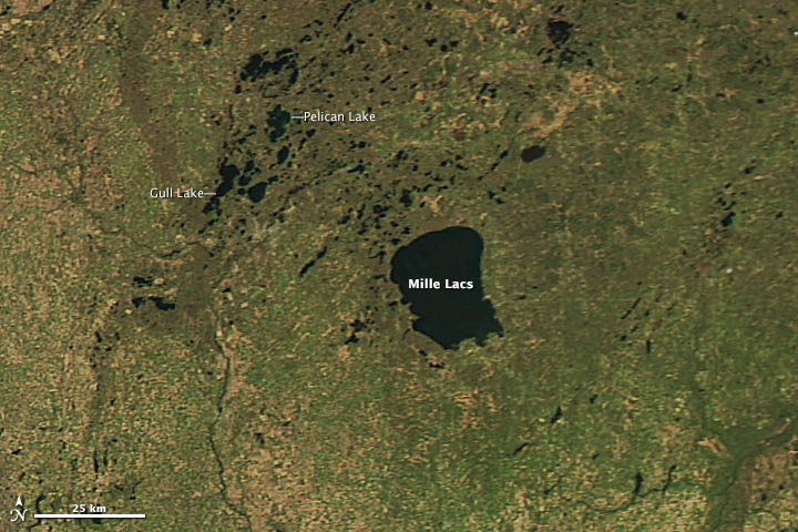 Lingering Ice on Minnesota Lakes