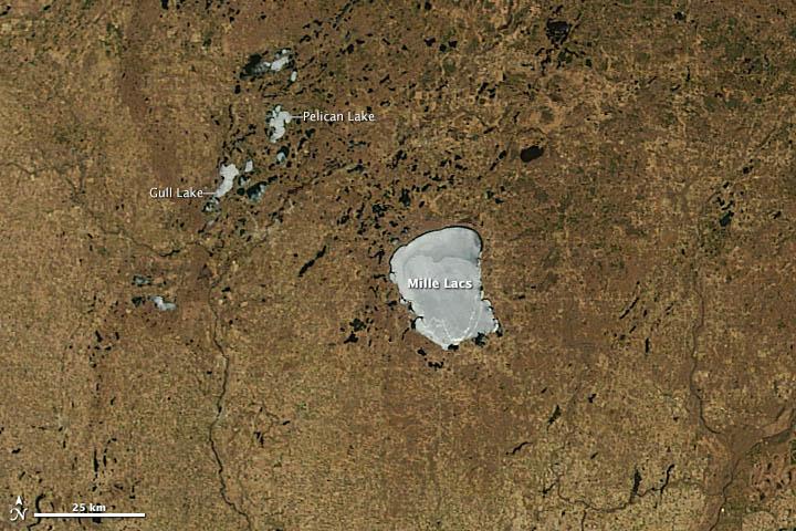 Lingering Ice on Minnesota Lakes