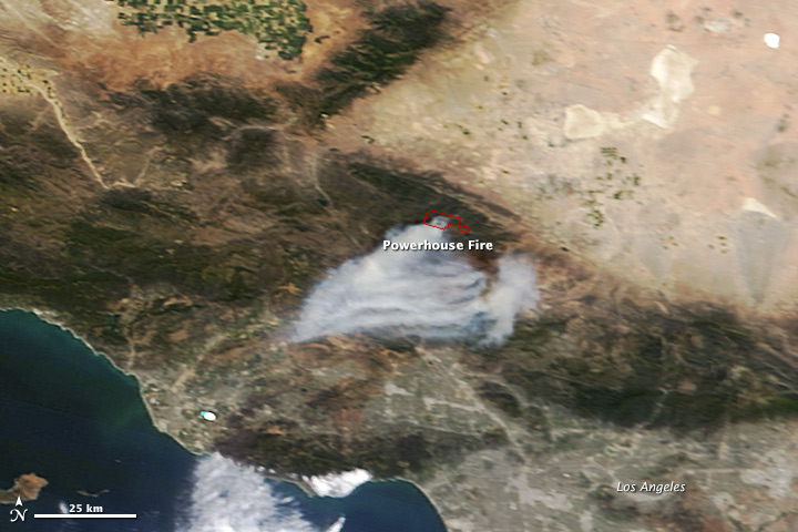 Powerhouse Fire, California