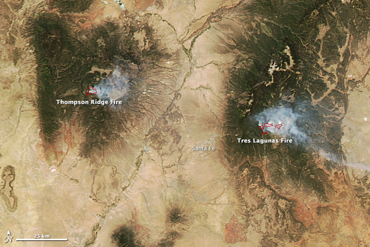 First Fires Of The Season In New Mexico