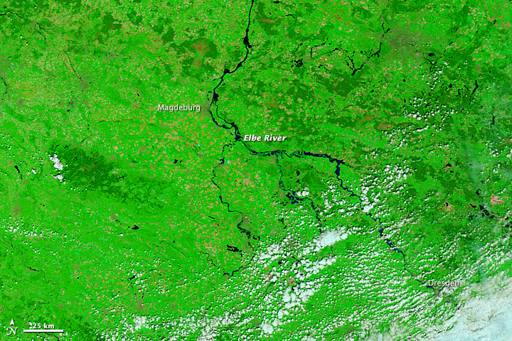 Flooding in Eastern Germany