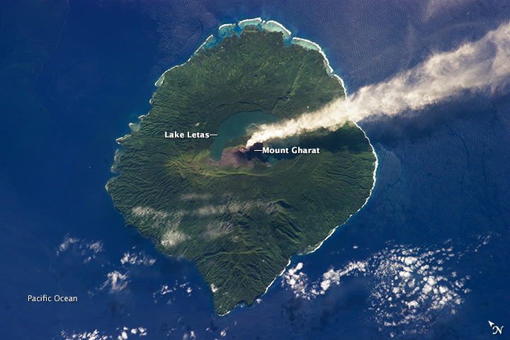 Steam Plume at Gaua Volcano