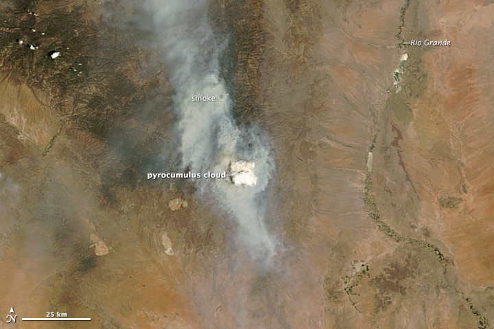 Pyrocumulus Cloud Billowing From New Mexico's Silver Fire
