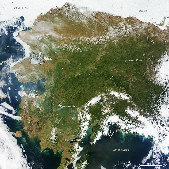Rare Clear View of Alaska