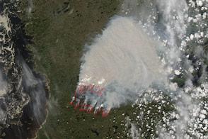 Fires in Quebec