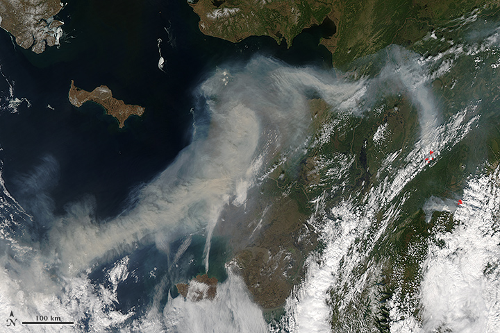 Wildfire Smoke Over Alaska