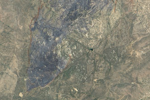 Doce Fire Burn Scar and Retardant Trail
