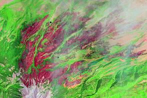 East Peak Fire Burn Scar, Colorado