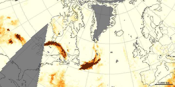 Wildfires Smoke Crosses the Atlantic - related image preview