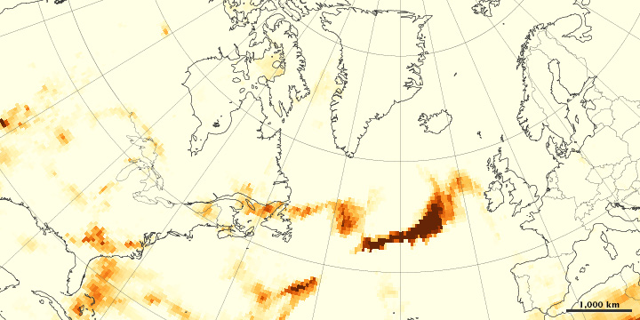 Wildfires Smoke Crosses the Atlantic